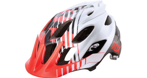 Fox Flux Savant Helmet Men red/white